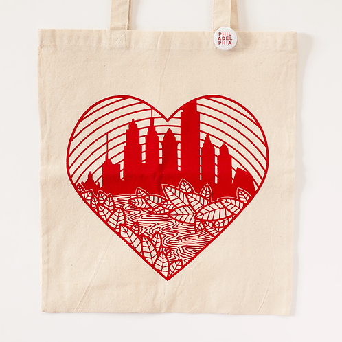 Philly Heart Skyline Tote