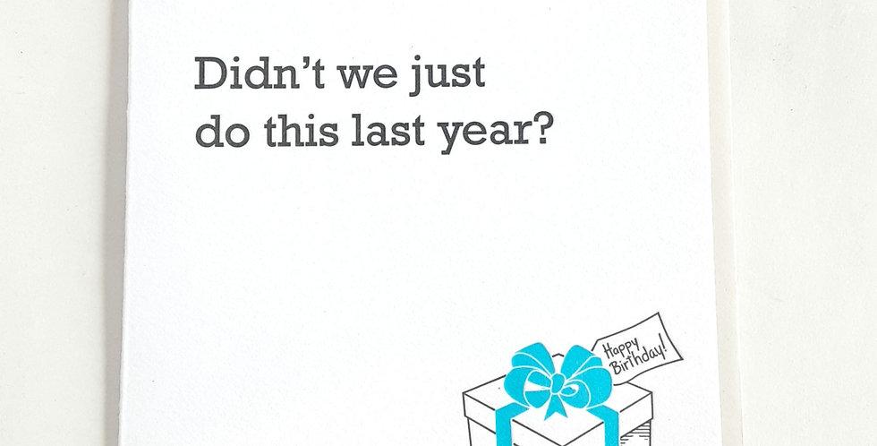Last Year? Bday