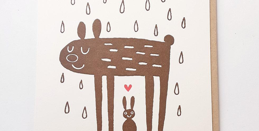 Thanks Friend bear & bunny