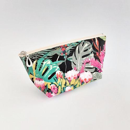 Cosmetic Bag- Tropical/Black