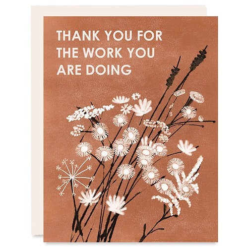 Than You For The Work You Are Doing