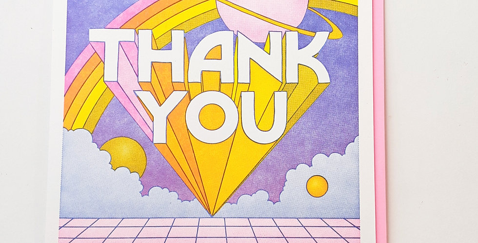 Thank You saturn & rainbow