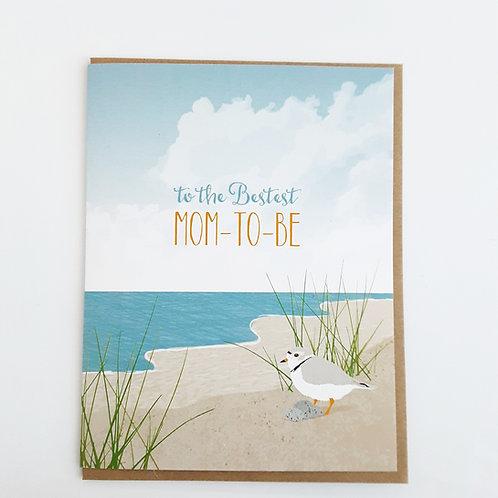 To the Bestest Mom-to-Be seagull w. nest