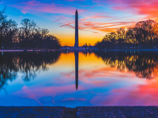 Sunrise at the Reflecting Pool