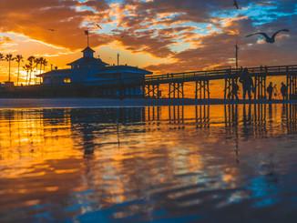 Newport Beach at Sunrise