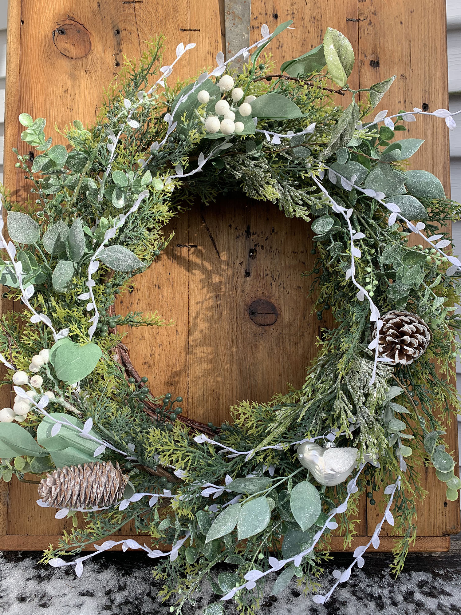 White Bird Wreath