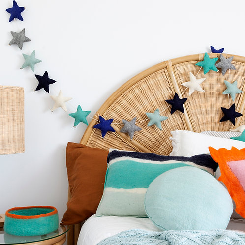 Puffy Star Chimes Garland Nautical