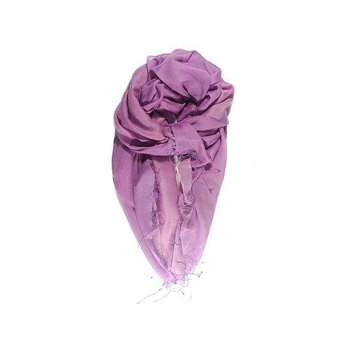 Moana silk merino scarf purple