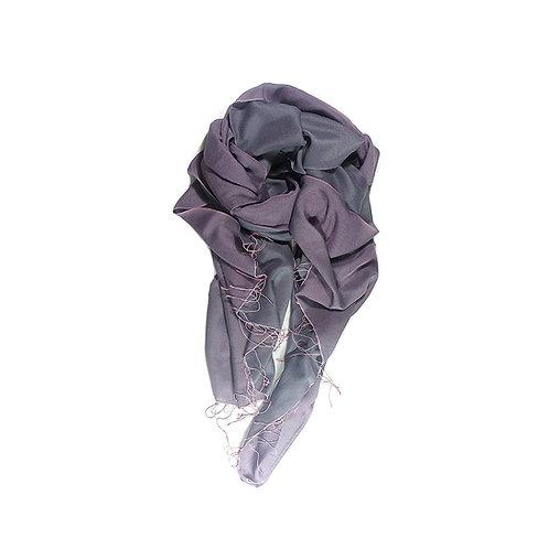 Moana silk merino scarf aubergine