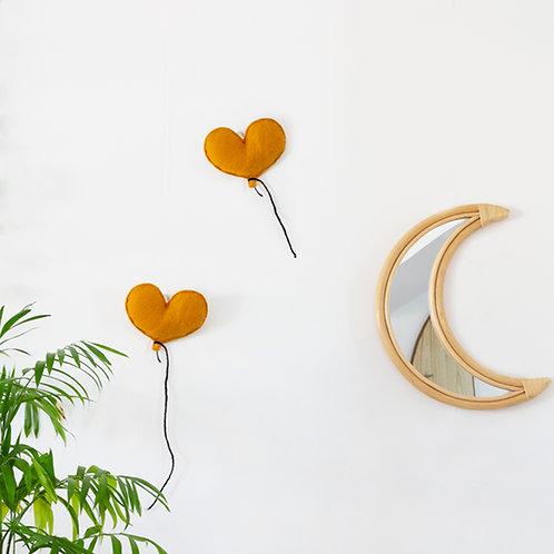 Balloon Heart Felt Wall Hanging Various Colours