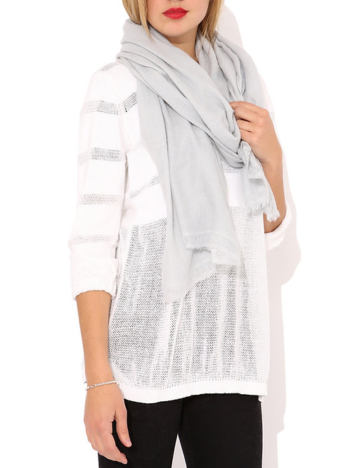 Moye pashmina scarf in silver grey