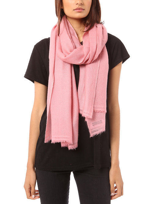 Vertou cashmere shawl in pink blush