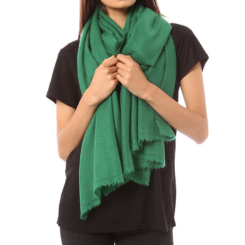 Vertou cashmere shawl in emerald
