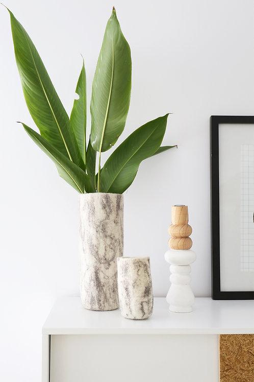 Marble Felt vase small