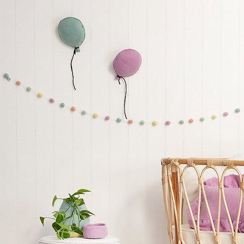Balloon Felt Wall Hanging Eggshell Blue