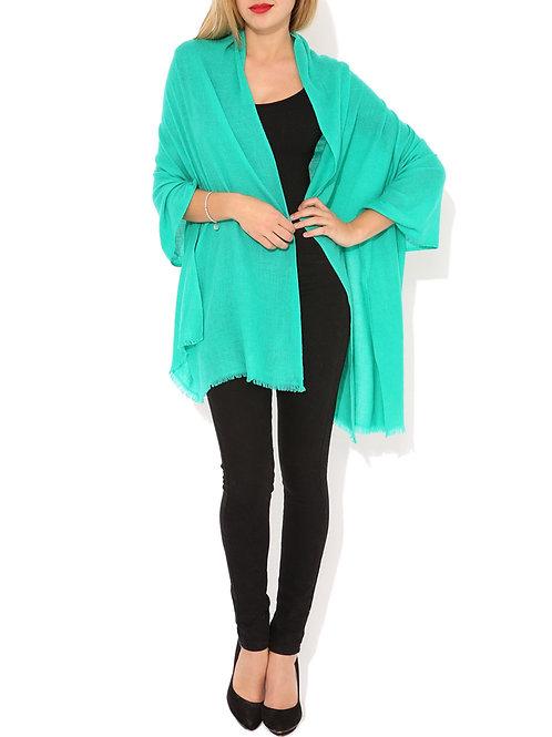 Moye pashmina scarf in turquoise