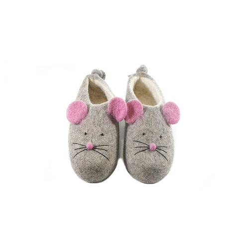 Mousy women felt slippers