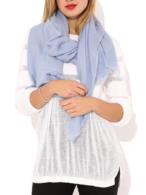 Moye pashmina scarf in blue grey