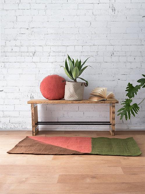 Seti geo felted wool rug