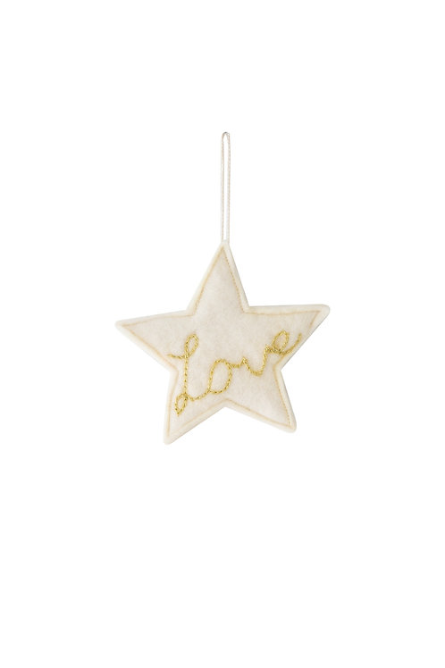'Love' star ornament