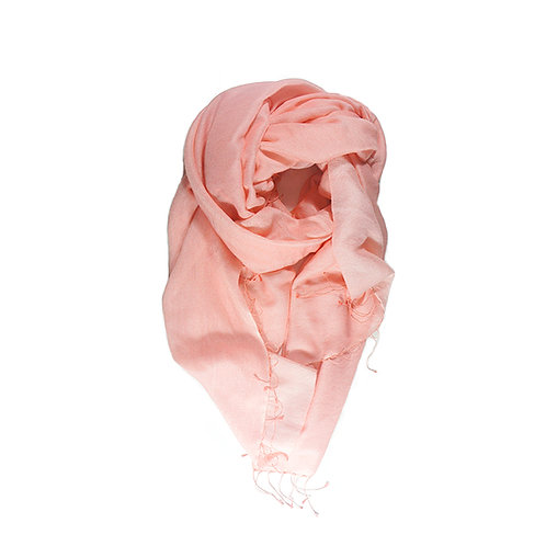 Moana silk merino scarf peach