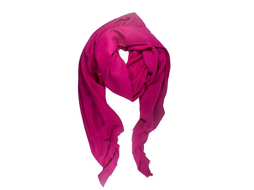 Moye pashmina scarf in magenta