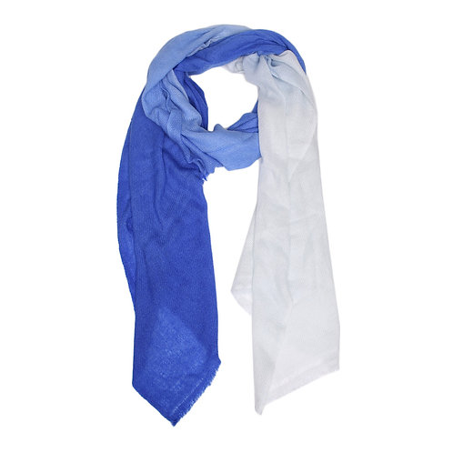 Ombre pashmina scarf in cobalt blue