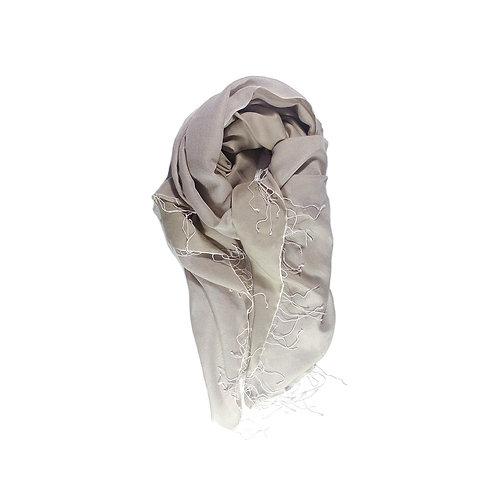 Moana silk merino scarf camel/pink