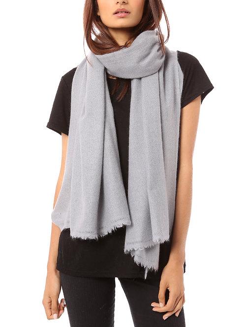Vertou cashmere shawl in silver grey
