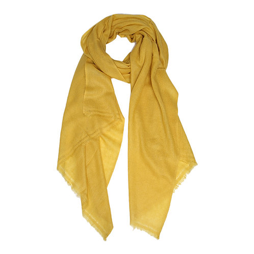 Moye pashmina scarf in honey mustard