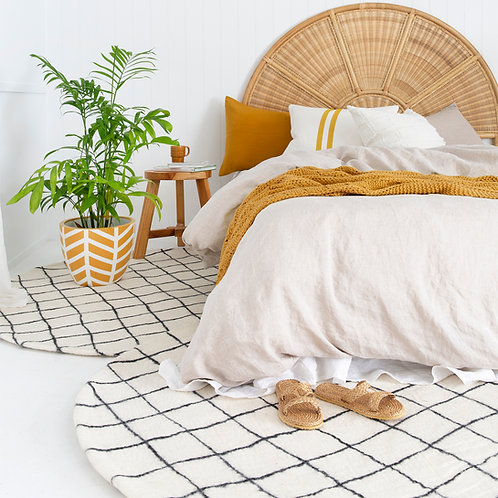 Manalu Grid Rug Monochrome