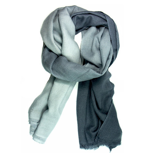 Ombre pashmina scarf in grey