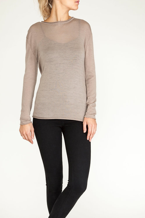 Essential Cashmere roll neck taupe