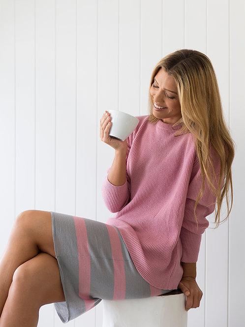 Merino band skirt in grey