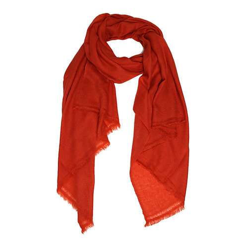 Moye pashmina scarf in burnt orange
