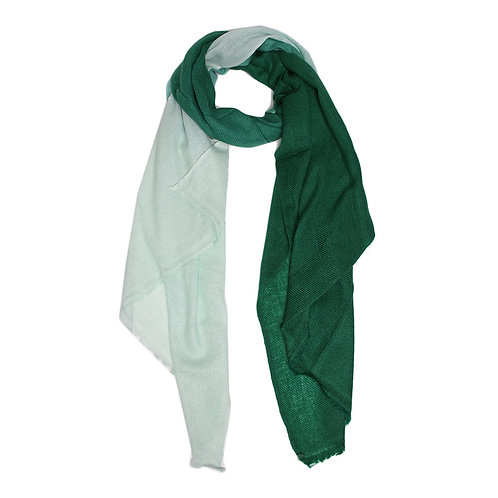 Ombre pashmina scarf in forest