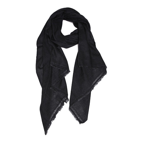 Moye pashmina scarf in charcoal grey