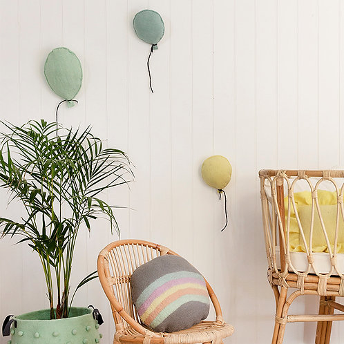 Balloon Felt Wall Hanging Pistachio