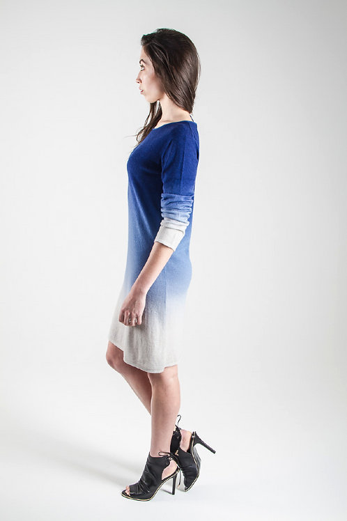 Ombre Shift dress navy