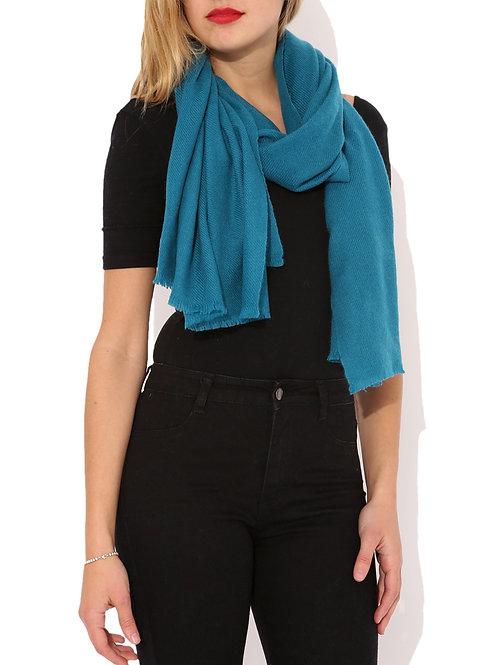 Moye pashmina scarf in teal