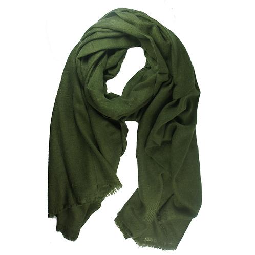 Moye pashmina scarf forest green