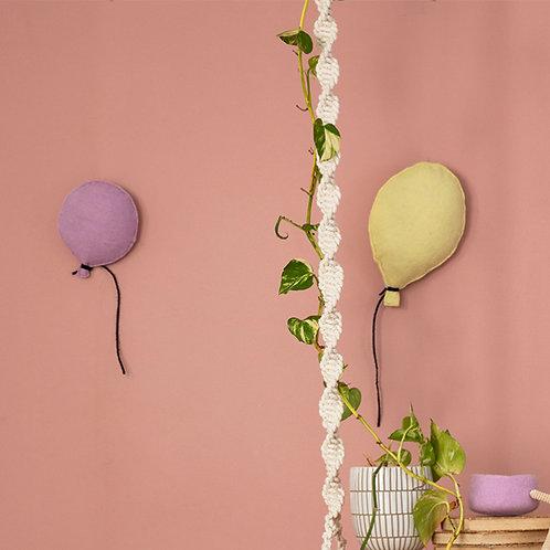 Balloon Felt Wall Hanging Lavender
