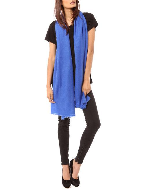 Vertou cashmere shawl in cobalt blue