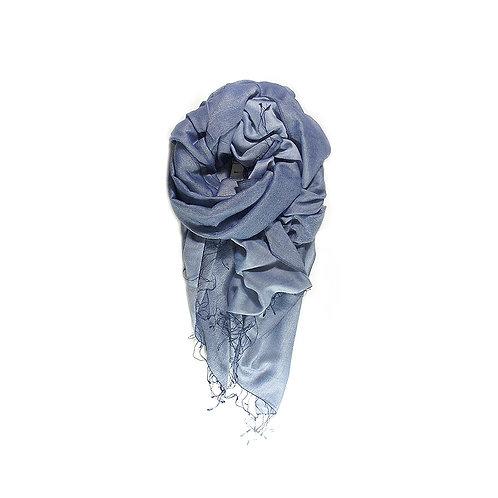 Moana silk merino scarf navy