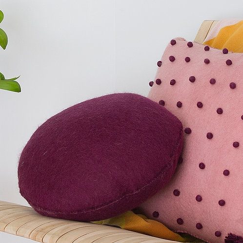Pods Felt Cushion Plum