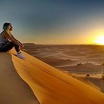 Sun Rise in Merzouga desert