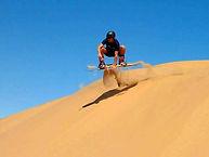 Merzouga sand boarding