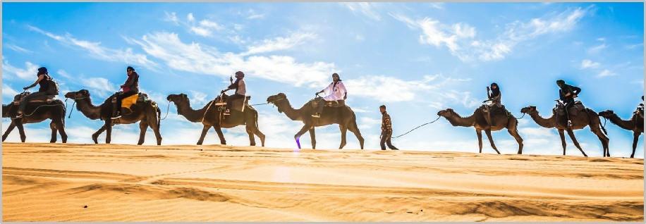 Cameltrekking in Merzouga Desert