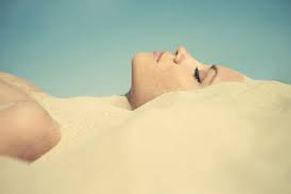 Sandbath in Merzouga Desert