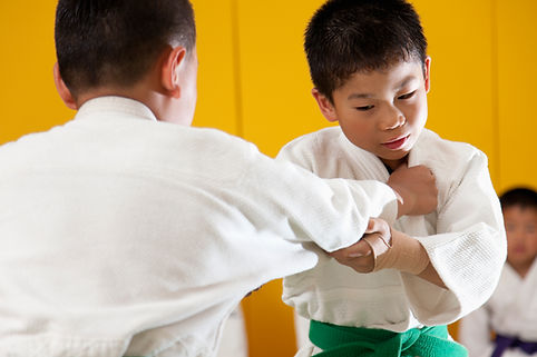 柔道の子供のトレーニング